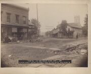 1889 Photo Of Lock Haven Pa After The Great Johnstown Flood -original