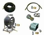Sewer Jetter Cleaner Kit - Hd Foot Valve, 100' X 3/8 Hose, Reel And Nozzles