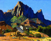 The Watchman, Zion National Park  By Franz Bischoff  Giclee Canvas Print Repro