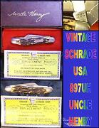 Schrade 897uh Knife Uncle Henry Junior Rancher Original Box And Papers Usa Made