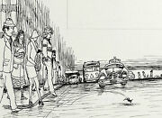 Garth Williamsstunning Published Original Pen And Ink Drawing Chester Cricket