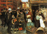 Hester Street By George Luks  Giclee Canvas Print Repro