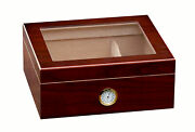 Prestige Import Group Chalet Glasstop Cherry Cigar Humidor Fast Free Shipping