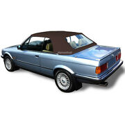 Bmw E30 Convertible Soft Top And Plastic Window 3 Series 1986-1993 Brown Stayfast