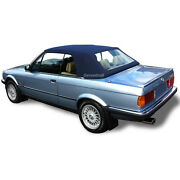 Bmw E30 Convertible Soft Top And Plastic Window 3 Series 1986-1993 Blue German