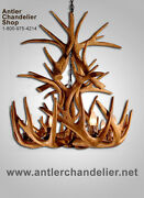 Reproduction Antler Whitetail Deer Cascade Chandelier 9lgts, Rustic Lamps, Crs-2