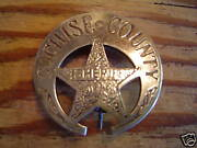 Badge Cochise County Sheriff Lawman Police Old West