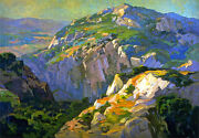 Canyon Green  By Franz Bischoff Giclee Canvas Print Repro