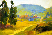 Cambria   By Franz Bischoff Giclee Canvas Print Repro