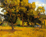 Rest Camp, Cambria  By Franz Bischoff Giclee Canvas Print Repro