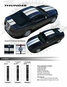 For Ford Mustang Racing Stripe Graphic Kit Decals Trim Ee-1778 Emblems 2013-2014