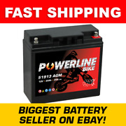 Powerline Motorcycle Battery 1997-2005 Bmw K1200rs Size 51913