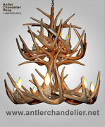 Faux Antler Two Tier Whitetail Deer Chandelier Lights/lamps Crs19