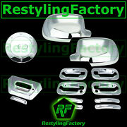 02-06 Chevy Avalanche Chrome Full Mirror+4 Door Handle+psg Kh+tailgate+gas Cover