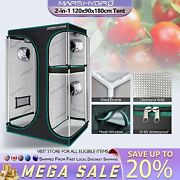 Mars Hydro 2in1-4and039x3and039x6and039 Indoor Grow Tent Room Reflective Mylar Nontoxic Box