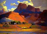 Scattered Farms Along The ... By Franz Bischoff  Giclee Canvas Print Repro