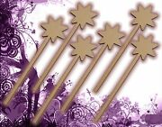 Six 6 Fairy Wands Craft Wood Mdf Girls Birthday Party Favor Novelty Toys 129