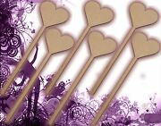 Six 6 Princess Wands Craft Wood Mdf Girls Birthday Party Favour Novelty 131