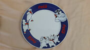 X6 Little Coca Cola Plate 1998 Ceramic Plates, Decorated With Polar Bears