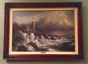 Thomas Kinkade Landscape Oil Painting- Conquering The Storms