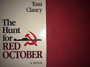 The Hunt For The Red October By Tom Clancy Inscribedfirst Ed