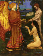 The Angel Before Adam By John Byam Shaw Giclee Canvas Print Repro