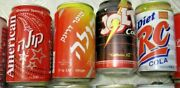 20 Rare Collectible Vintage Cola/pepsi/schweppes Cans From Israel And The World