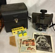 Polaroid Colorpack 2 Ii Instant Land Camera Case Flash Bulbs Book Clean