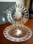 Waterford Crystal Bolton Grafton Street 8 Accent Plates Set / 2 - New In Box