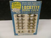 Nos Locktite Radiator Drain Cock Set Of 24 Ford Chevrolet Oldsmobile 1/4 And 1/8