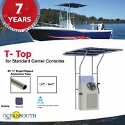 Oceansouth Boat T-top For Standard Center Console Boat Blue Size 1