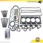 Full Gasket Set And Head Bolts Fits 01-02 Ford Escape Mazda Tribute 2.0l Dohc 16v
