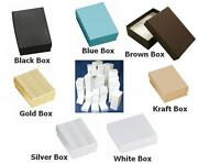 1000 Cotton Filled Gift/jewelry Boxes 2 1/8 X 1 5/8 X 3/4 Inch. Choose Color