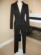 Spectacular Super Rare Dolce And Gabbana Lace Up Pant Suit Nwot