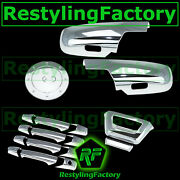 07-14 Chevy Avalanche Chrome Half Mirror+4 Door Handle+tailgate No Cam+gas Cover