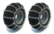 Pair 2 Link Tire Chains 15x6.00x6 For Mtd / Cub Cadet Lawn Mower Tractor Rider