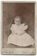 Cabinet Card Toddler With Two Large Curls, Horn Covers Probably. Sharpsburg, Pa.