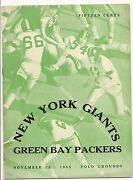 1945 New York Giants-packers Program Fritsch Scores 2 Pack Wins Nice