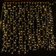 Warm White Led Curtain Lights Wedding Backdrops Occasions Fairy String Lighting