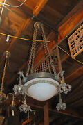 Awesome Arts And Crafts Chandelier Hammered Brass Or Copper Architectural Salvage