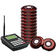Singcall Wireless Restaurant Coaster Pager Guest Waiting Paging System 10 Bells
