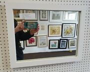 Buy Direct - Large 33mm Modern White Framed Wall And Overmantle Mirrors