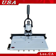 Paper Hole Drill Punch Machine 1/4 6mm Hole 300 Sheets Two Cut Die Moulds