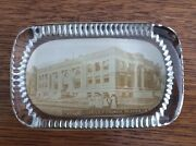 Vintage Glass Advertising Paperweight Public Library Council Bluffs Ia.
