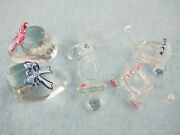 Crystal Glass Partyfavor Gift Cup Caketopper Babyshower Bootie Pacifier Stroller