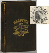 Dickens Little Dorrit First American Publication In Parts 1856 Harperand039s Monthly