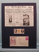 Franklin D. Roosevelt Wins 1932 Presidential Election And James Farley Autograph