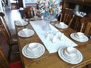 Lenox Brookdale H500 5 Pc Set For 8 + Candle Holders And Shakers 44 Pcs Mint
