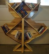 Hand Crafted In Vermont 60 Tree Style Wide Bookcase Ash And Maple Delivery By Me