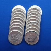 1964p Kennedy Unc Half Dollars 10 Face Value Bag - 20 - 90 Silver Coins